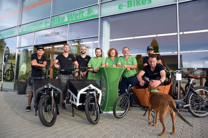 Kostenlose Beratung, Probefahrt und Vergleich von Trekking e-Bikes in der e-motion e-Bike Welt in Freiburg