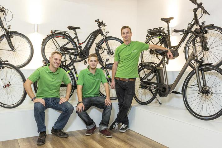 Im Shop in Braunschweig können Sie sich viele verschiedene City e-Bikes ansehen