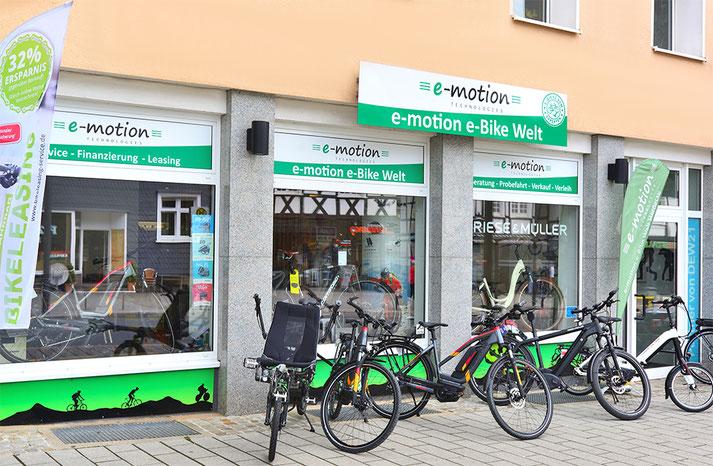 Auf großer Ladenfläche können Sie sich im Shop in Herdecke zahlreiche e-Mountainbikes ansehen und probefahren.