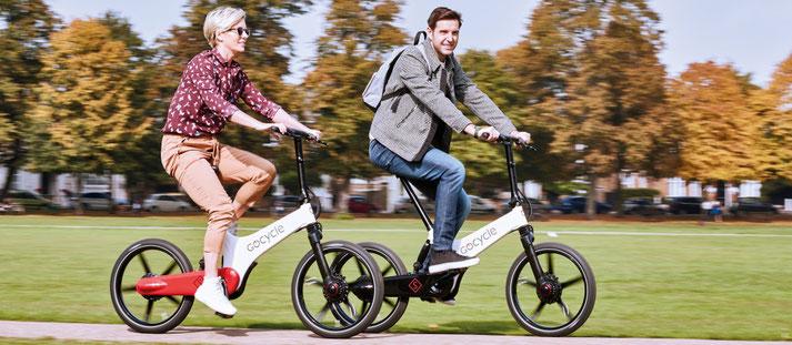 Falt- und Kompakt e-Bikes von Gocycle probefahren und kaufen in der e-motion e-Bike Welt Freiburg Süd