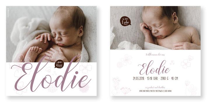 kreative Geburtskarte Geburtsanzeige Schweiz kartendings.ch