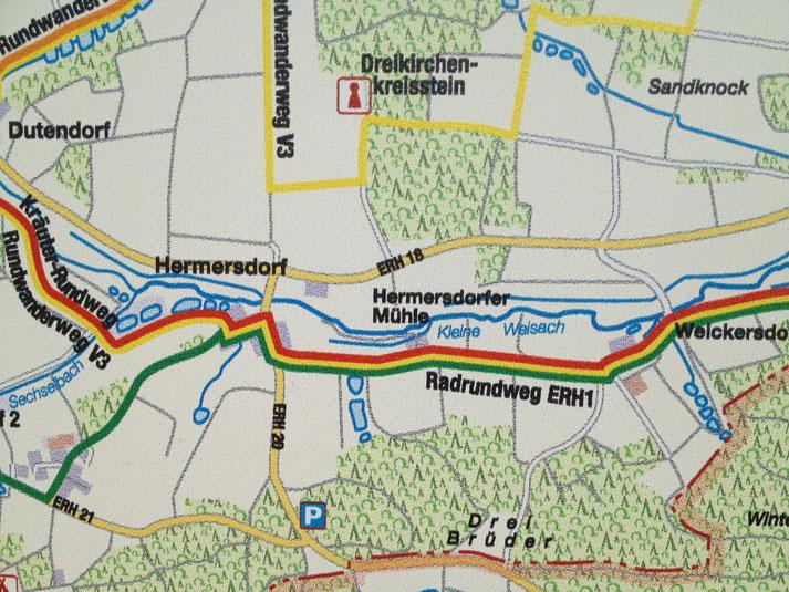Karte der Umgebung