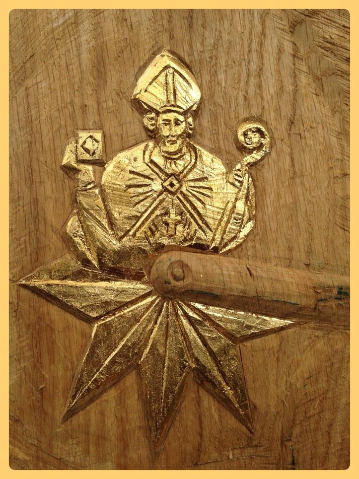 Echtblattvergoldet, das Wappen der Goldstadt Korbach