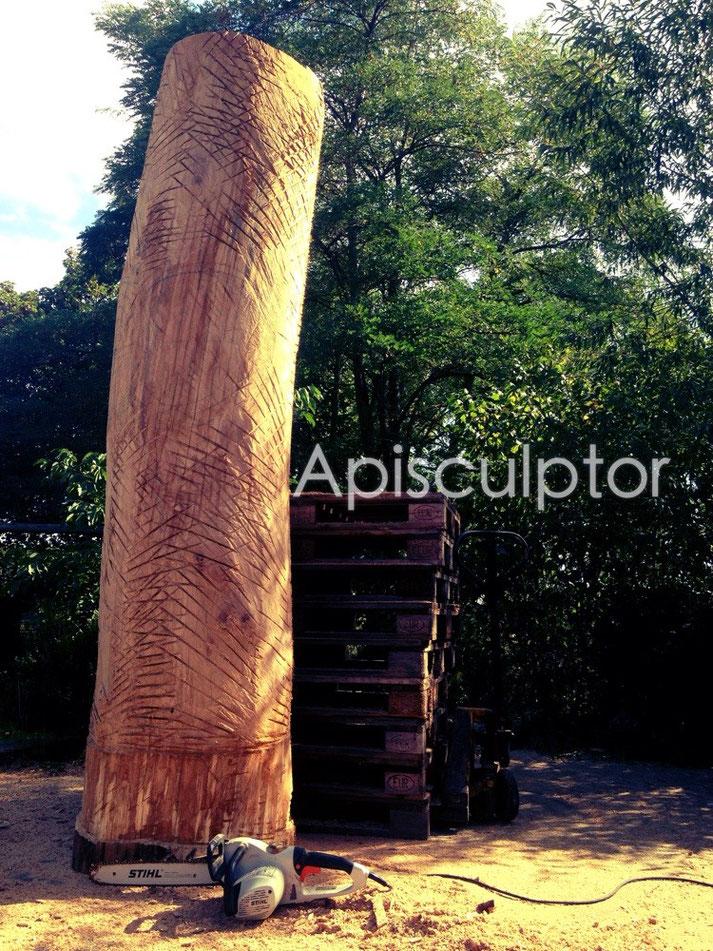 Tronc d'arbre pour abeilles
