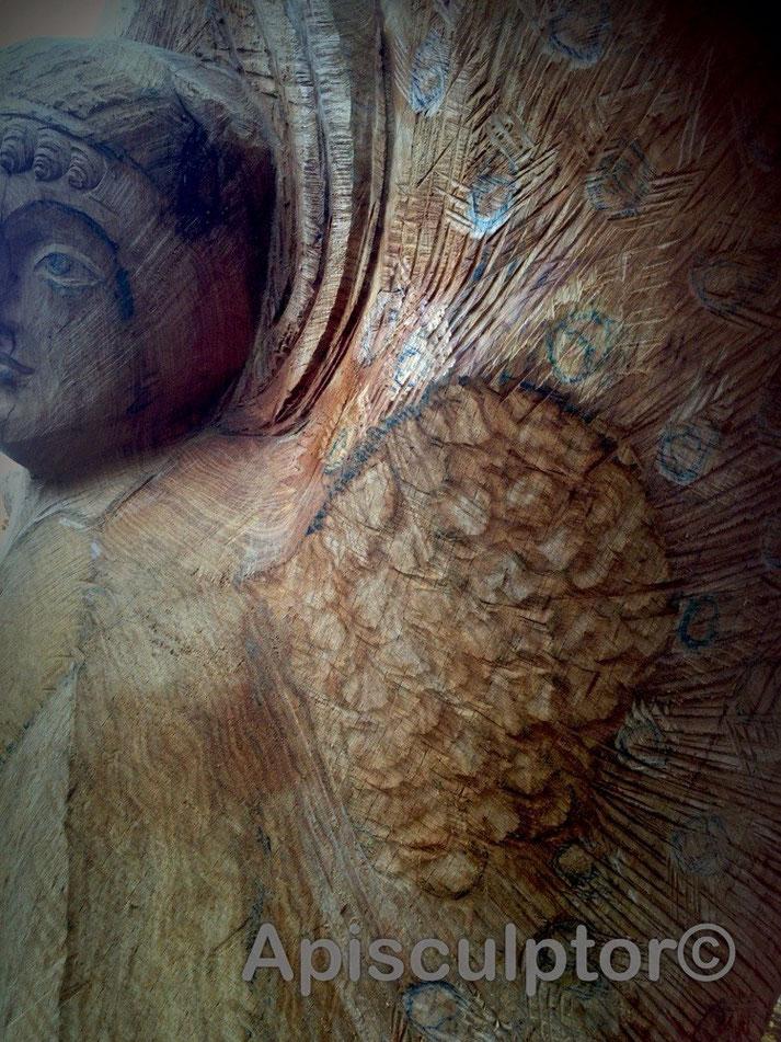Pfauenfedern für Sankt Michael