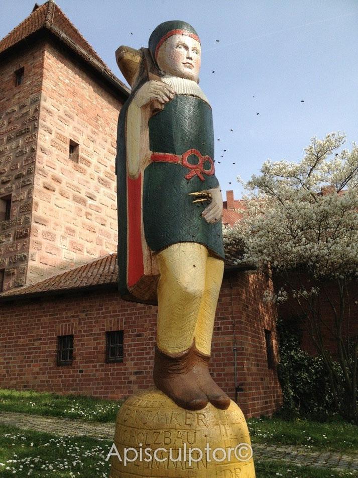 Der Zeidler für Bienen unterhalb der Nürnberger Burg