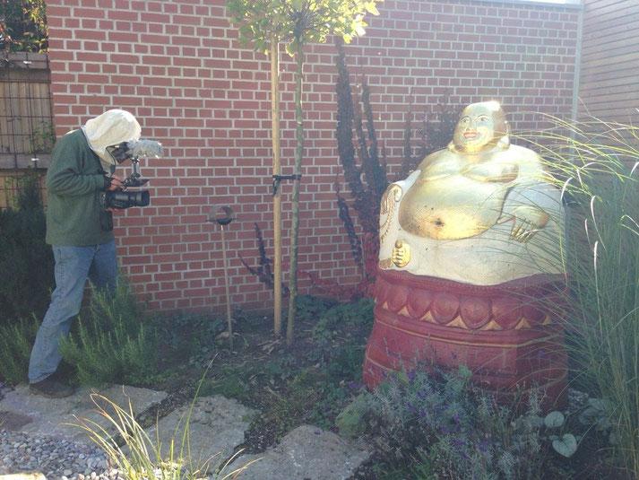 Filmer Jan Michael aus Frankreich beim Buddha II