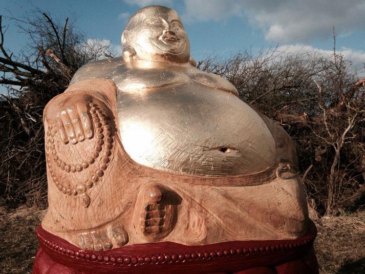 Echtblattvergoldung Buddha für Bienen