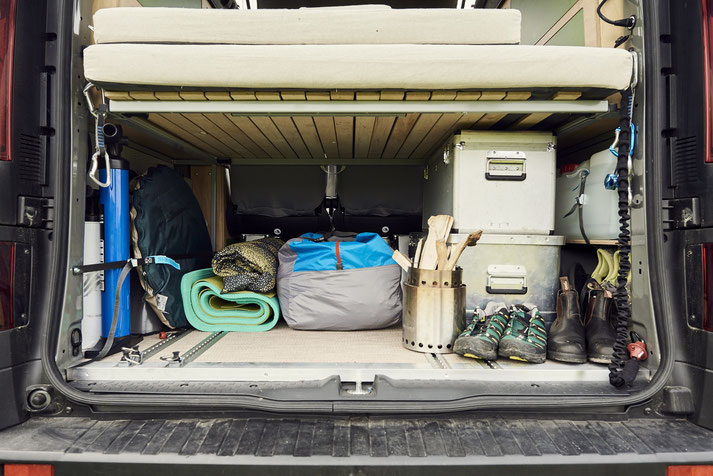 Campingbus Ausbau Kofferraum