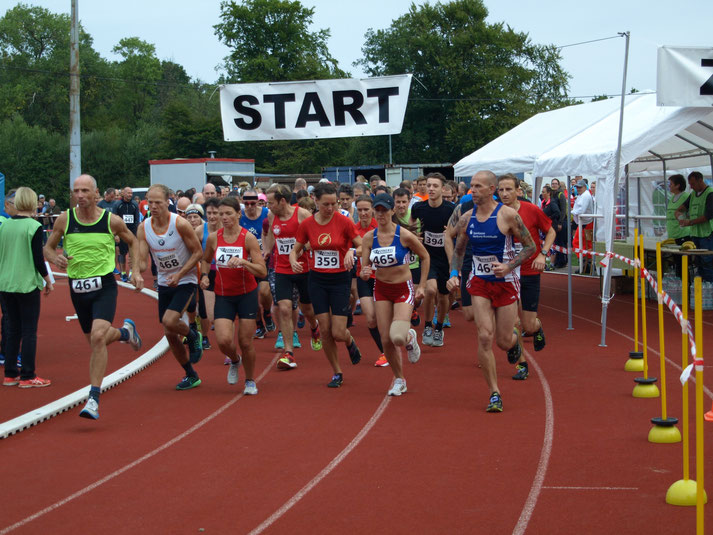 09:45 Uhr der erste Start (10km)