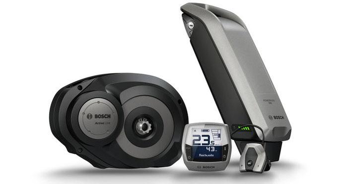 der neue Bosch Aktive Line e-Bike Antrieb hat eine besonders geringe Geräuschentwicklung