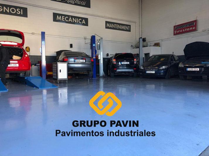 pavimentos, industriales, barcelona, grupo, pavin, taller, mecánico