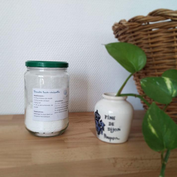 recette de poudre pour lave-vaisselle écologique