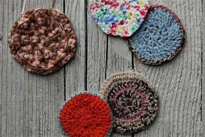 Zero waste Abschminkpads aus Wollresten