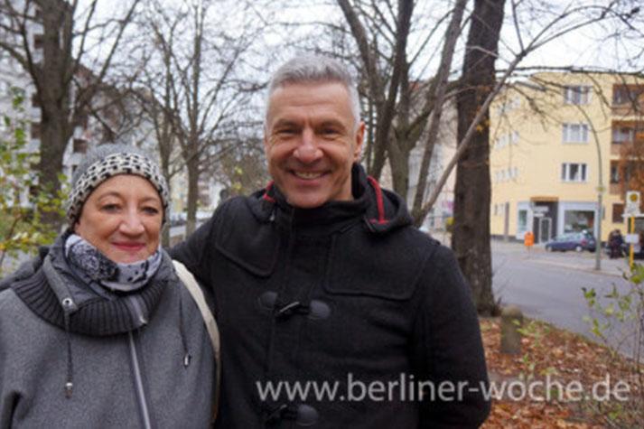 Sabine Bechinger und Stefan Zobel von der Bürgerinitiative Kastanienfreunde-Moabit.