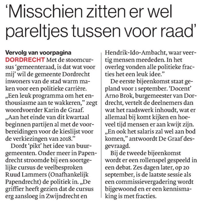 AD De Dordtenaar (2 juni 2016)