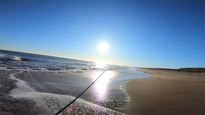 釣り松TV 波崎海岸シーサイドパークより南を見た風景