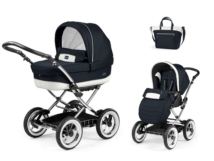 Kinderwagen Culla Elite übersicht dessin luxe blue gestell chrom