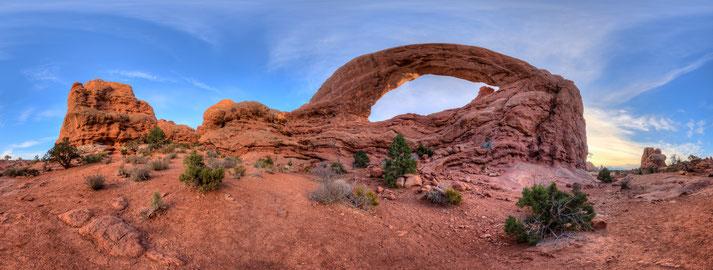 Panorama vom Arches Nationalpark, erstellt mit dem pocketPANO Nodalpunktadapter für die Canon G7X II