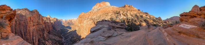Panorama vom Zion Nationalpark, erstellt mit dem pocketPANO Nodalpunktadapter