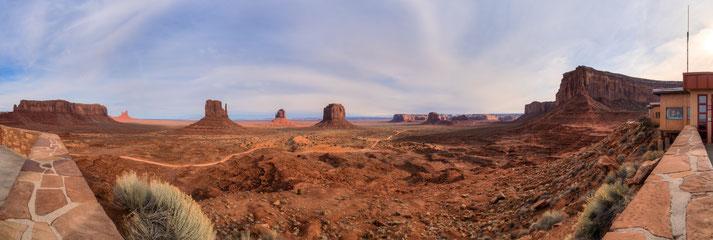 Panorama vom Monument Valley, erstellt mit dem pocketPANO Nodalpunktadapter für die Canon G7X II