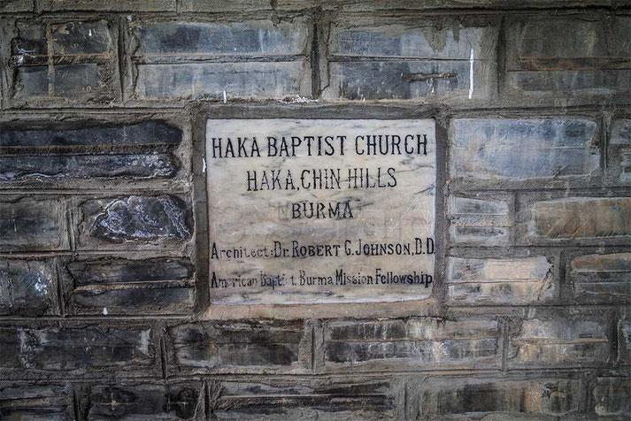 Primera iglesia cristiana en Hakha
