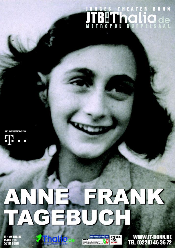 Das Plakat zum Theaterstück das Tagebuch der Anne Frank