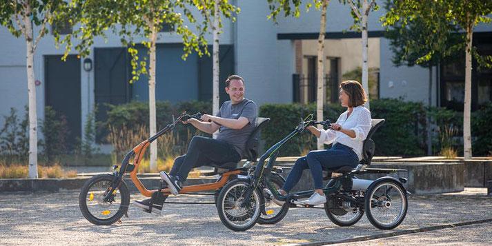 Sessel-Dreirad und Elektrodreirad für Erwachsene