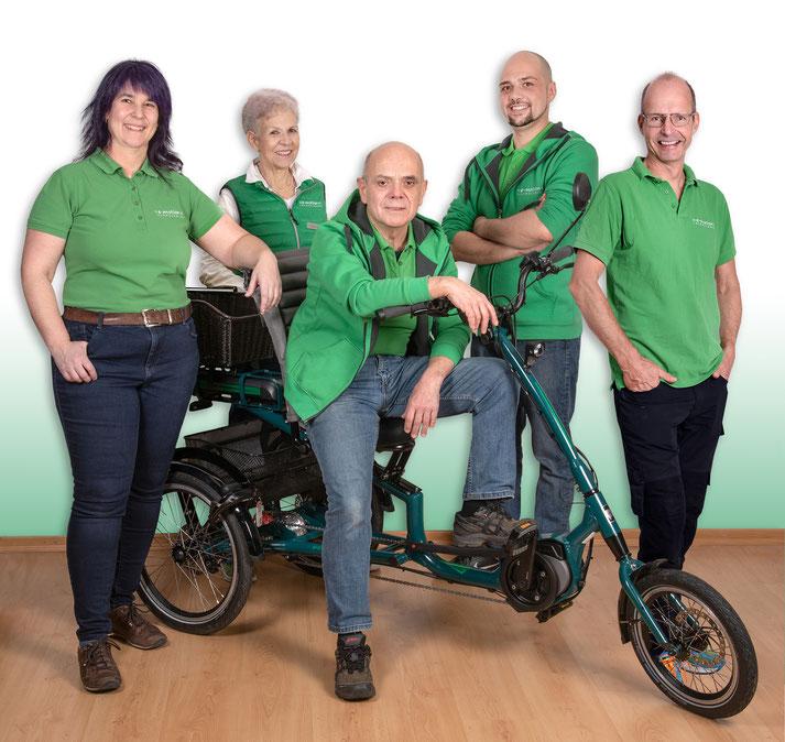 Das Team des Dreirad-Zentrums Hombrechtikon