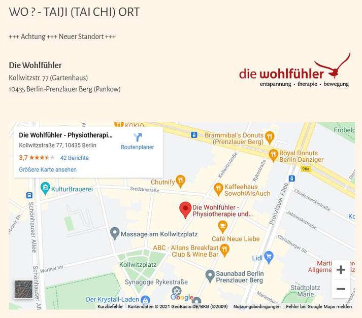 GEKKo-Taiji Berlin - Neuer Unterrichtsstandort: Kollwitzstrasse 77, 10435 Berlin