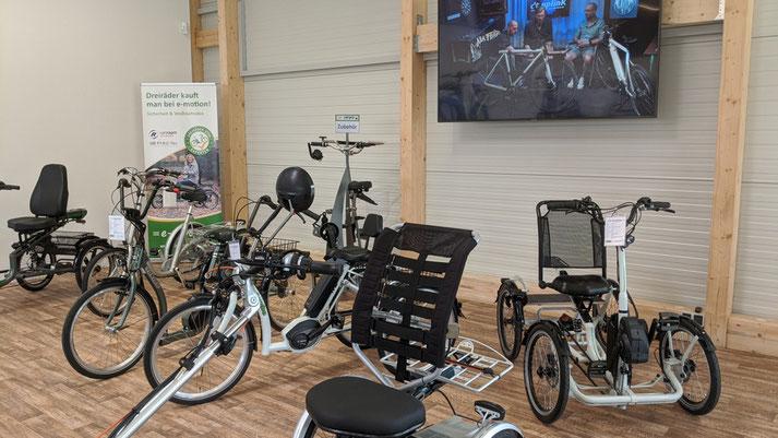 Dreiräder im Dreirad-Zentrum Westhausen