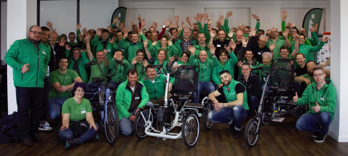Die e-motion Gruppe bei der PFAU-Tec Schulung in Quakenbrück