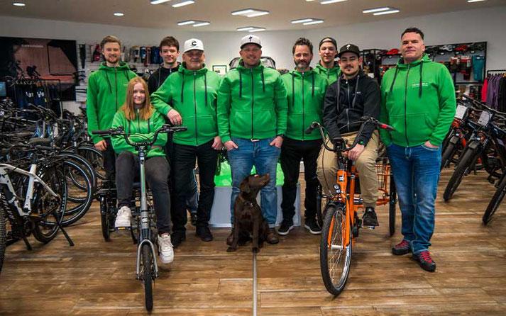 Das Team des Dreirad-Zentrums Erfurt