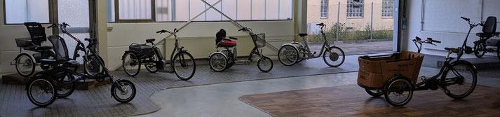 Besuchen Sie uns und fahren Sie kostenlos Probe- wir führen eine Top Auswahl an Dreirädern und e-Dreirädern in Heidelberg!