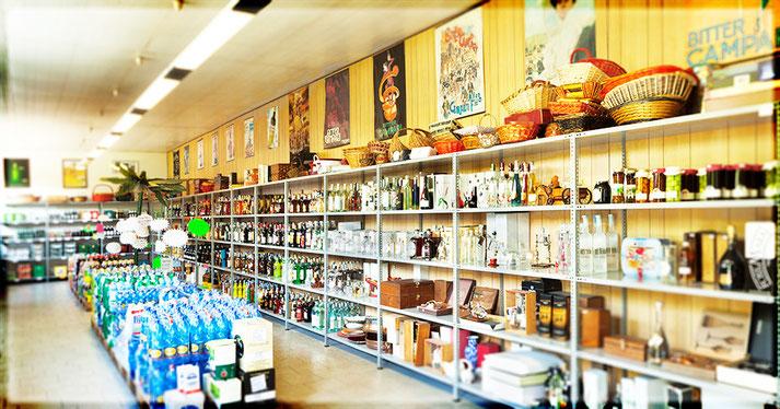 Negozio bevande, vasto assortimento di liquori, birre, bibite