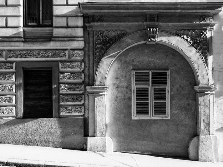 Häuserdetail in der Burggasse