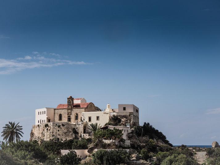 Kloster von Chrysoskalitissas (5 km von Elafonisi entfernt)