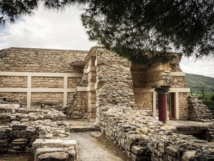 Ausschnitt aus Knossos, 800 Räume nachgewiesen, bis zu 1300 in der Palastanlage vermutet