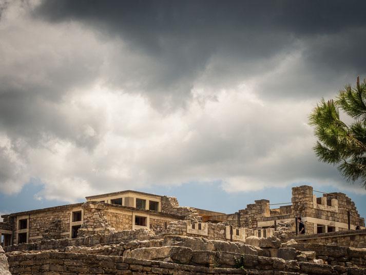Knossos bevor der Regen kam