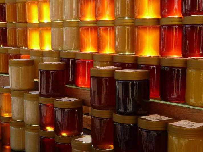 Honiggläser - ohne Label