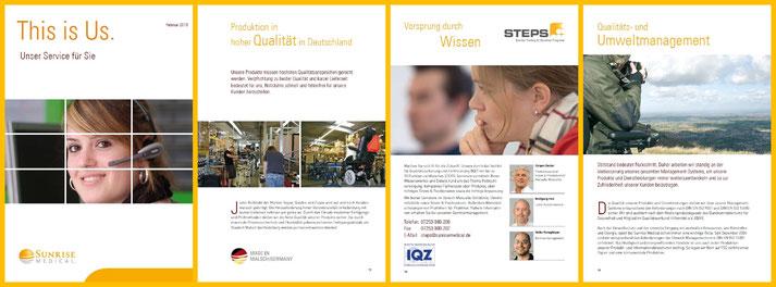 Elke Janson-Neckargemünd-Projekt Imagebroschüre (Auszug)-Sunrise Medical