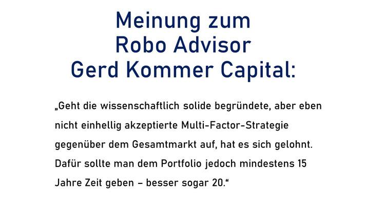 Meinung zum Robo Advisor Gerd Kommer Capital