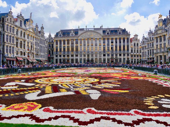 Brüssel Belgien Grote Markt Blumenteppich 2018