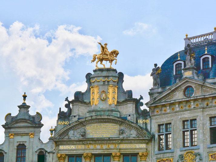 Haus der Bierbrauer Gildehäuser Zunfthäuser, am Grote Markt  Grande Place Brüssel Belgien