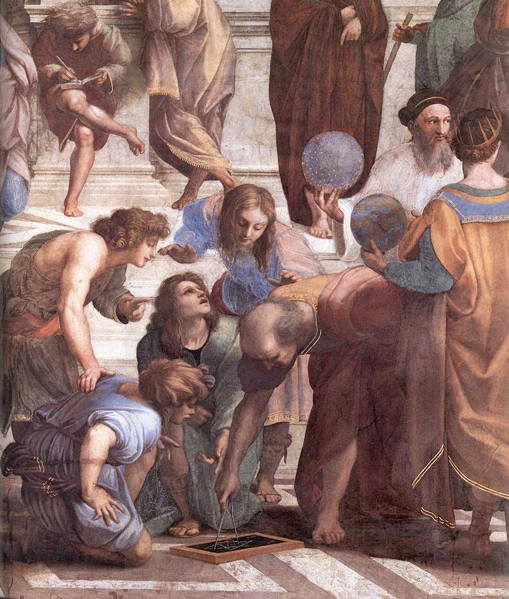 """Raffaello Sanzio, """"Scuola di Atene"""" (1509-1511), dettaglio"""