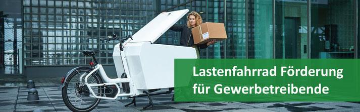 Lastenfahrrad Förderung für Gewerbetreibende in NRW