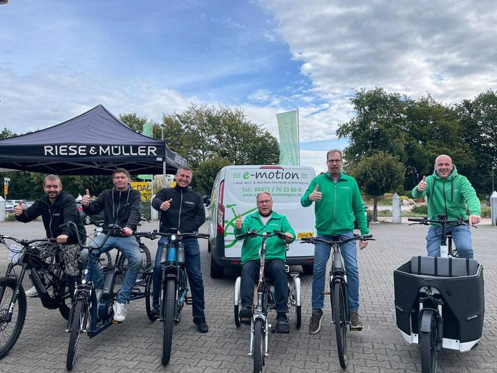 Das Team des Lastenfahrrad-Zentrums Cloppenburg