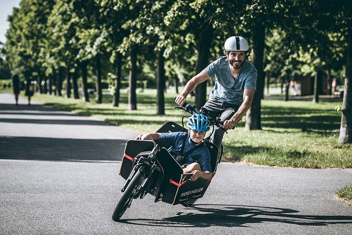 Lasten e-Bike in der e-motion e-Bike Welt Münster kaufen und von der Stadt Münster mit 30% des Kaufpreises unterstützt werden!