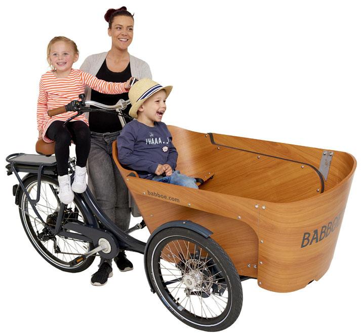 Babboe Carve-E Lasten e-Bike, Lastenfahrrad mit Elektromotor, e-Cargobike 2019