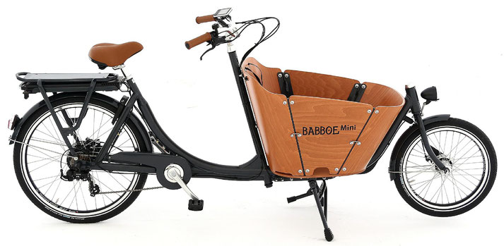 Babboe Mini-E Lasten e-Bike, Lastenfahrrad mit Elektromotor, e-Cargobike 2019
